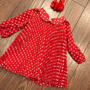 Baby gap red with little white hearts